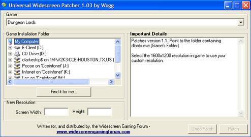 Universal Widescreen (UniWS) Patcher | WSGF