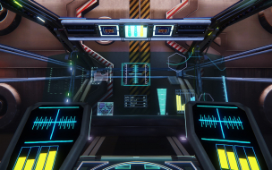 Constellation cockpit view