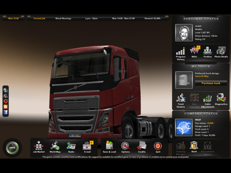 euro truck simulator 2 wsgf. Black Bedroom Furniture Sets. Home Design Ideas