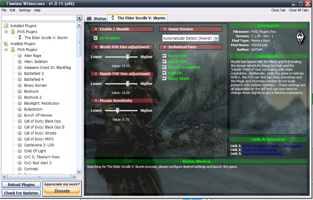 WSGF • View topic - Skyrim - Flawless Widescreen patch for