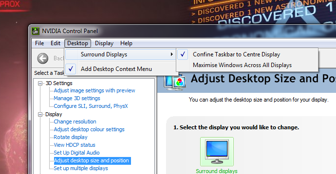 WSGF • View topic - Nvidia surround cant maximize windows on